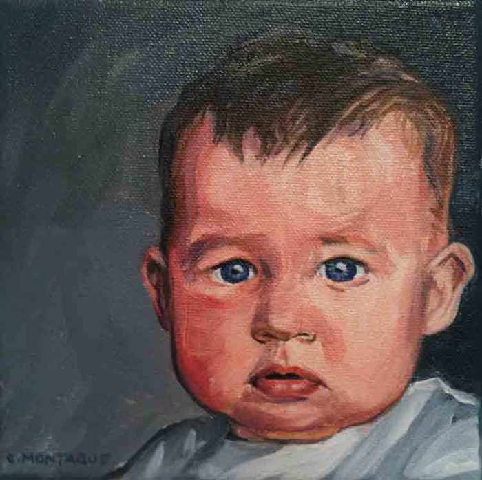 Portrait baby boy. Copyright Christine Montague