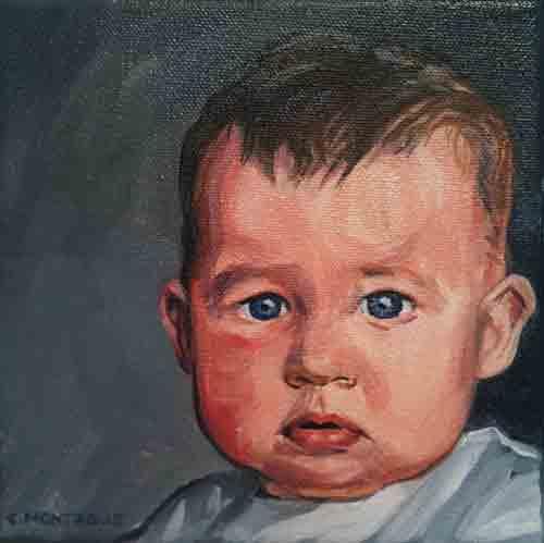 Little portraits project baby face copyright christine montague 2011