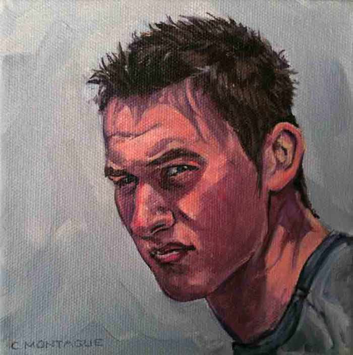 Portrait painting of a teen. Copyright C. Montague