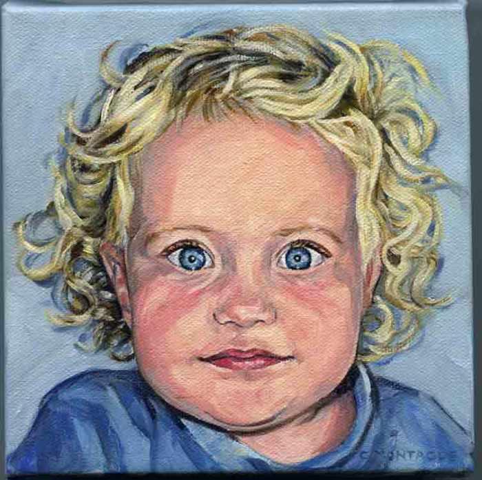 Portrait little girl. Copyright Christine Montague