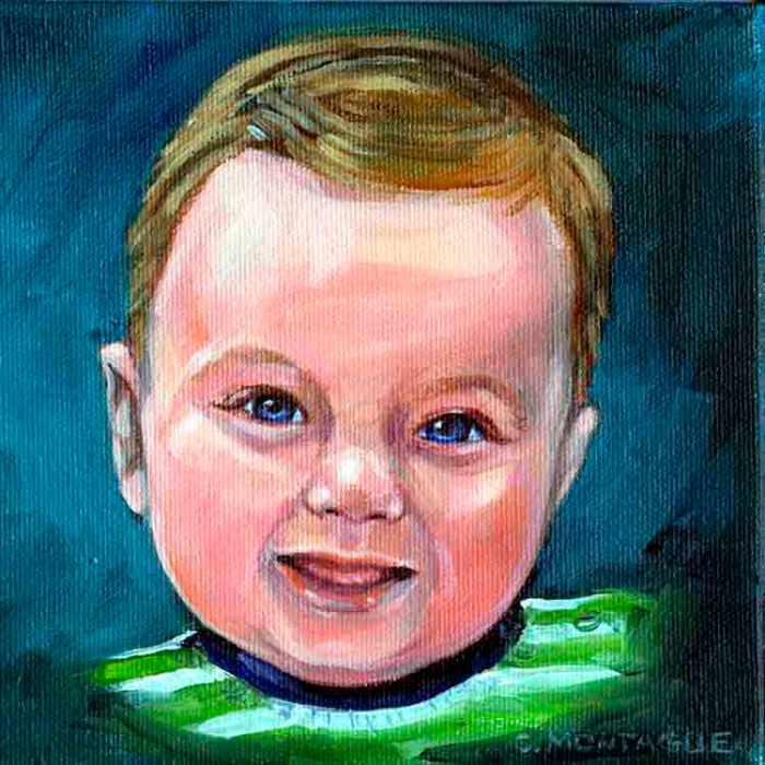 Baby Boy detail. Copyright Christine Montague